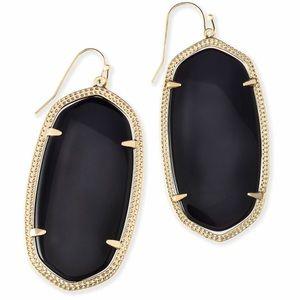 Kendra Scott Danielle Earrings Black Opaque Glass